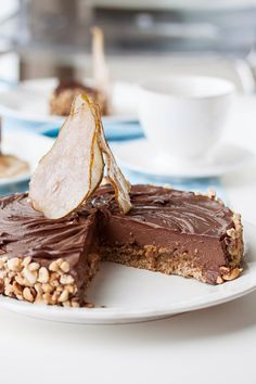 hazelnut chocolate pear cake