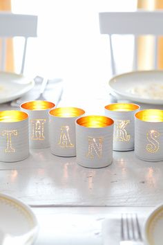 DIY Ideas With Tin Cans - Tin Punched Votive Candles- Cheap and Easy Organizing Projects and Crafts Made With A Tin Can - Cool Teen Craft Tutorials and Home Decor Tin Can Crafts, Crafts To Make, Diy Crafts, Crafts With Tin Cans, Upcycled Crafts, Boho Deco, Paper Bag Puppets, Beautiful Mess, Beautiful Things