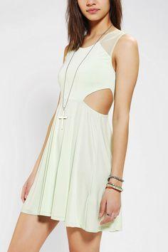 Sparkle & Fade Knit Mesh-Back Dress