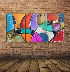 Items op Etsy die op Large Original Modern Abstract Painting x orange red Contemporary Fine Art Hand Painted Triptych Colorful Big by GINO SAVARINO lijken Contemporary Abstract Art, Modern Art, Pintura Graffiti, Wal Art, Cubism Art, Picasso Paintings, Fabric Painting, Painting Art, Watercolor Painting