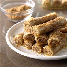 Honey Cinnamon Rollups Recipe