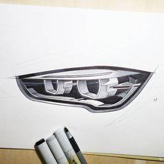 BMW headlights close-up details, enjoy. #industrialdesign #design #idsketching #sketchaday #drawingaday #sketch #products #render #copicmarkers #copicart #markers #drawing #art #handsketch #carsketch #sketching #drawtodrive #cardrawing #rendering #sjsu #cardesign #transport #bmw