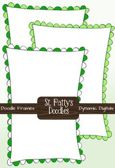 Patrick's Day Doodle Frames - pair these with free clipart (linear) and you've got instant coloring pages Teaching Materials, Teaching Resources, Preschool Printables, Free Printables, Doodle Frames, Doodle Borders, Frame Clipart, Borders And Frames, Blog Images