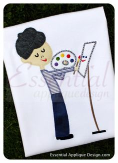 Essential Applique Design - French Painter Boy, $3.99 (http://www.essentialappliquedesign.com/french-painter-boy/) #frenchpainter