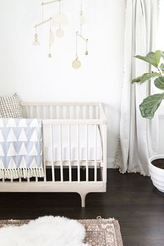 Love this - simple and ever so elegant! baby boy nursery tour // sarah sherman samuel www.homeology.co.za
