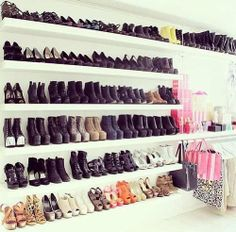 Laundry room shoe storage