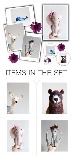 """Two Sad Donkeys"" by starshinebeads ❤ liked on Polyvore featuring art"