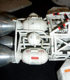 """Eagle motor assembly from original 44"""" production model built by Brian Johnson for the television series Space: 1999."""