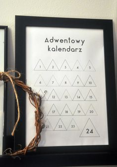 Mój kalendarz adwentowy advent calendar, free printable ~ my moments in home