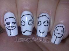 Lacquer Dreams- Rage Face Nail art @Megan Ward Stangl !!!!!!!!!!!!!!!!
