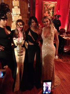 Partying with Beyoncé, Solange, Jennifer Hudson at Tina Knowles' birthday bash