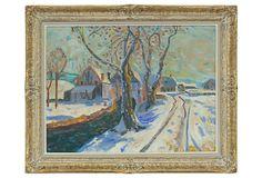 Post-Impressionist-Style Winter Scene on OneKingsLane.com