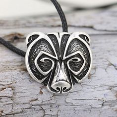 0.99 GBP - Bear Head Amulet Pendant Necklace Norse Viking Necklace Talisman Jewelry Ld #ebay #Fashion