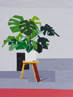 Oil on linen, 120 x 90 cm, all 2014 Guy Yanai --- As a friend, I can only say his work gets better and better. Plant Painting, Plant Art, Painting & Drawing, Paper Collage Art, Still Life Art, Art For Art Sake, Botanical Prints, Contemporary Artists, Graphic Illustration
