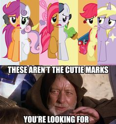 MLP: FIM/ Star Wars crossover. These aren't the cutie marks your looking for!