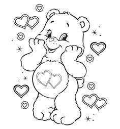Love a lot coloring page Care Bears Pinterest Care bears