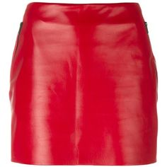 Barbara Bui mini leather skirt (6,080 PEN) ❤ liked on Polyvore featuring skirts, mini skirts, red, red leather skirt, red leather mini skirt, real leather skirt, mini skirt and red skirt