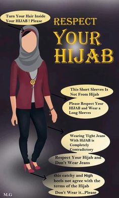 I don't necessarily agree with the jeans portion of this infographic. One can wear jeans and modest heels and still be perfectly within the bounds of hijab.