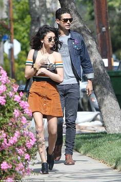 Sarah Hyland of Modern Family and her boyfriend Wells Adams in LA