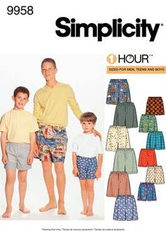 Boxer pattern - we use it for sleep shorts worn over undies. fits well and goes together quite easily too.