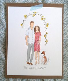 Custom Watercolor Family Portrait PERSONALIZED by HydeTheWildBoar