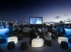 limes hotel - has a rooftop movie watching area?! also very funky. In Brisbane, Australia