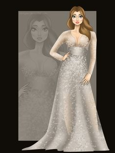 Miss Disney: Belle with the gown of Miss Peru Universe 2010.
