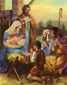 The Nativity by Valerian Ruppert using pastels