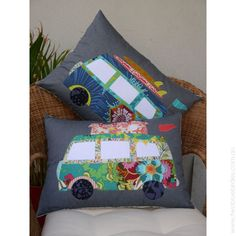 Claire Turpin Design - Free Campin' pillow sewing pattern. @ninox You need these for your camper!