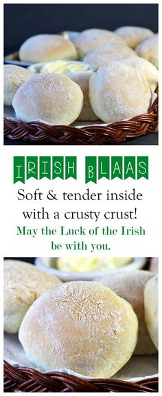Tender and soft on the inside, crusty on the outside. Try our Irish Blaas for St. - Recipes, Food and Cooking patricks day recipes dinner st pats Irish Blaas! - Recipes Food and Cooking Good Food, Yummy Food, Tasty, Dinner Show, Ham Dinner, Easter Dinner, Dinner Rolls, Simply Yummy, Snacks