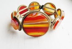 victorian agate bracelet