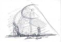 Esquisse préparatoire de Tadao Ando.
