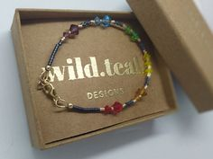 Swarovski Bracelet, Crystal Bracelets, Swarovski Crystals, Bangles, Pride Bracelet, Japanese, Beads, Gold, Handmade