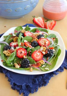 Baking with Blondie : Berry Spinach Salad with Strawberry Lime Vinaigrette