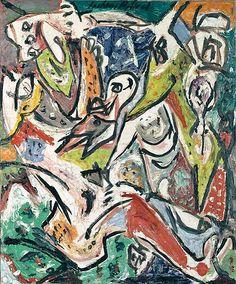 Bird Effort - 1946 - Oil paint on canvas - 61 X 51cm - Peggy Guggenheim Collection Venice - Copyright Jackson Pollock, by SIAE 2008