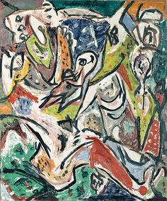 Bird Effort - 1946 - Oil paint on canvas - 61 X 51cm - Peggy Guggenheim Collection Venice - Copyright Jackson Pollock, by SIAE 2008