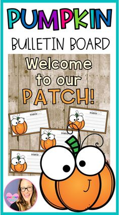 "Its FALL! Celebrate this fall season with a great bulletin board that your students will just love!! It is super cute and easy to display this fall.  There are 2 Pumpkin Bulletin Board options included!!  Included:  - 2 Bulletin Board Sayings:  ""Welcome to our PATCH!""  ""How to carve a PUMPKIN"" #bulletinboards #fallbulletinboard #pumpkinbulletinboard #teacherspayteachers"