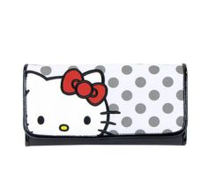 Hello Kitty Long Wallet: Grey Dots