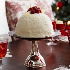 covered with a fluffy white chocolate frosting, this red velvet cake ...
