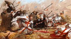 crusader forces cut down on the battlefield