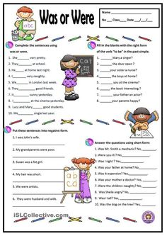A simple worksheet to practise the verb to be - past simple. Grammar: BE (auxiliary verb); Grammar Activities, English Activities, Grammar And Vocabulary, Grammar Lessons, English Vocabulary, Grammar Help, Fun Activities, English Grammar Worksheets, English Verbs