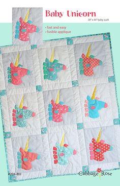 Easy Unicorn Quilt Applique Pattern Design Pdf Quilting