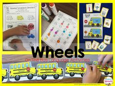 Wheels On The Bus- Transportation Week! Plenty of fun bus-themed language and phonological activities to go with this rhyme!