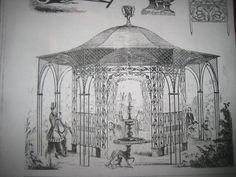 Cast Iron Gazebo   19th century catalog showing a cast iron gazebo similar to the one in ...