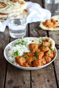 Crockpot butter chicken. 1 lb boneless skinless chicken breast chunks 1/2 onion, finely minced 2 T butter 3 cloves garlic, minced or grated 1 T freshly grated ginger 2 t curry powder 1-2 t curry paste 2 T garam masala 1/2-1 t turmeric 1 t cayenne pepper 1/4 t salt 1 (6 oz) can tomato paste 1 (14 oz) can coconut milk 1/2 cup greek yogurt 1/4 cup half and half or heavy cream