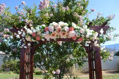 Wedding Arch Coral Arch Wedding Arch flowers by TheBloomingWreath