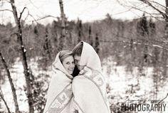 Christi & Brian | Wichita Wedding Photographers | James Sanny Photography |  Winter Engagement Session | Conover, Wisconsin