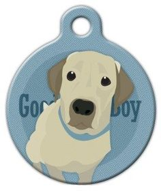 Good Boy Labrador Retriever - Custom Pet ID Tag for Dogs and Cats - Dog Tag Art -- You can get more details here : Dog tags for pets