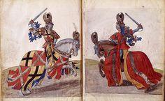 Tournament book of King René of Anjou, 1467, Bibliothéque National de France, MS Français 2695