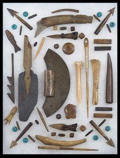 Inuit tools... Like the arrowhead ones and the 3 arrow halved.